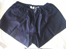 "Traditional Quality 100% Cotton Rugby Sports Shorts Navy Blue 40""-48"" New"