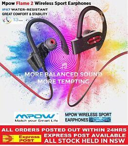 Genuine Mpow Flame 2 IPX7 Waterproof Sport Wireless Earphones Bluetooth 5