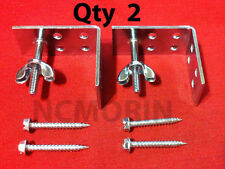 Qty. (2) Roman Shade Mounting Installation L-Brackets with Screws