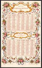 Calendrier Le Moniteur des Dames et des Demoiselles. 1857. Chromolithographie