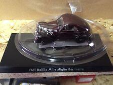 """DIE CAST """" FIAT BALILLA MILLE MIGLIA BERLINETTA """" 1/43 HACHETTE AUTO ITALIANE"""