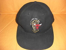 1997 '97 Chicago Bulls Champions black hat baseball cap KICK 10 Insure One