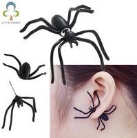 2pc Escalofriante Halloween Terror Araña Oreja Anillo Disfraz Insecto Pendientes