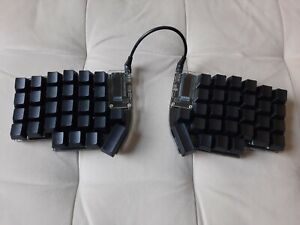 Programmable Assembled Lily58 Pro Split Ergo Keyboard Kailh Brown, mechanical