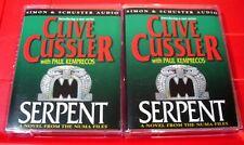 Clive Cussler Serpent NUMA Files 4-Tape Audio Book David Purdham Thriller