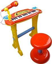 rosso per bambini elettronico tastiera pianoforte con sgabello & Microfono & MP3