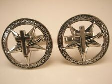 Cross Shepherds Crook Star Vintage Cuff Links Fathers Day gift