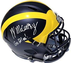 JJ MCCARTHY #9 SIGNED MICHIGAN WOLVERINES F/S FOOTBALL HELMET PSA/DNA
