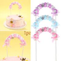 Supplies Baby Shower Cupcake Decor Cake Topper Pompom Soft Cloud Birthday Flags