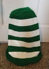 "Hallmark Party Express green, white striped 16"" hat St. Patrick's Day, Halloween"