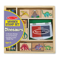 Melissa and Doug Wooden Stamp Set - Dinosaurs - 11633 - NEW!