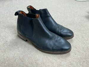 MENS SOLE TRADER ORMOND CHELSEA BOOTS BLACK LEATHER UK 8 CHUKKA SHOES