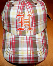 HOOTERS HAT BASEBALL CAP PLAID GOTHIC H EMBROIDERED Distressed One Size NEW