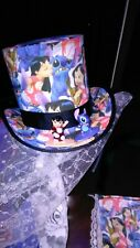 Veiled Fascinator Top Hat & clutch  -cosplay -Hawawian flowers -Lilo & Stitch