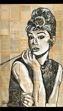 AUDREY HEPBURN Print Poster DANOR Street Modern Pop Art Oil Painting Tiffany il
