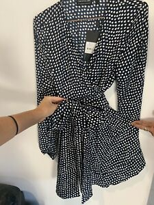 The Fifth Label Size Medium Rrp$119.95 Brand New With Tags Navy/polka Dot