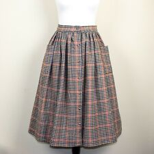 Lindy Bop 'Adalene' Vintage Rustic Check Tweed Swing Skirt with Pockets BNWT.