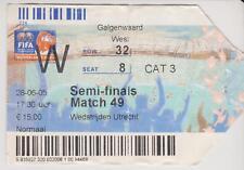 Sammler Used Ticket FIFA WC 2005 U20 1/2 Final Brasil v Argentina 28-6-05 *Messi