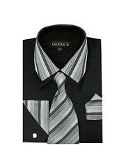 Men's fashion dress shirt 60% Cotton 40% Polyester Collar Match Tie Design A 611