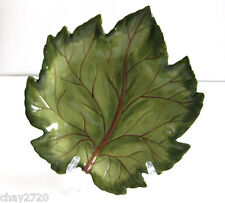 """EUC HAND PAINTED & HAND CRAFTED TABLETOPS LIFESTYLE """"FALL FOLIAGE"""" LEAF PLATE"""