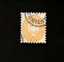 Austria Lombardy-Venetia Sc# 20, 2s Yellow Stamp Used, Very Scarce!