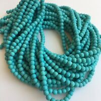 6mm Round Gemstone Beads Turquoise Blue 39cm - 15 inch Strand Jewellery Craft