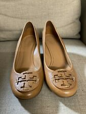 Tory Burch Sally Wedge in Pebble Leather Size 9 $265