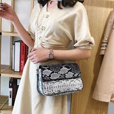 Women's Shoulder Bag Snakeskin Pattern Handbag Travel Storage Messenger Bags HD