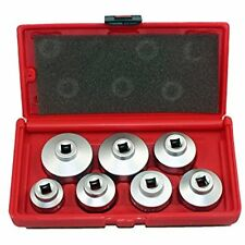 Oil Filter Wrenches Cap Metric 7-Piece Socket Set Tool Kit 24mm 38mm BMW, VW