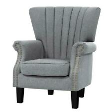 Artiss UPHO-C-EMPO-GY Upholstered Fabric Armchair - Grey