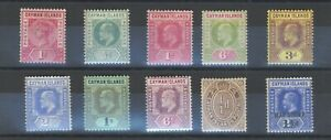 Cayman Islands - QV to KGV - 1900 to 1917 - 10 Stamps Mint and Used