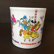 Disney Carousel Merry-Go-Round Mickey Mouse Donald Duck Plastic Melamine Mug