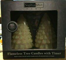 Sophia Elan Flameless Tree Candles set of 2 holiday Christmas Special Occasion