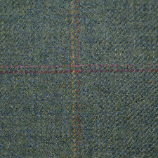 Moss Green with Wine, Yellow and Orange Check Tweed - 2.50 Mtrs