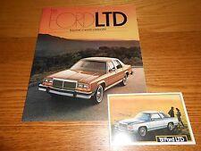 1981 FORD LTD & LTD CROWN VICTORIA SALES BROCHURE plus ORIGINAL POSTCARD
