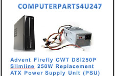 Advent Firefly CWT DSI250P Slimline 250W Replacement ATX Power Supply Unit