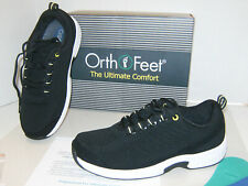 New listing NEW Black Women's OrthoFeet Lace Athletic Coral stretch knit Sz 9M ultimate comf