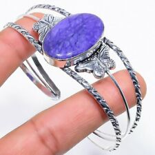 Jewelry Cuff Adjustable Rc482 Charoite Gemstone Handmade Ethnic Silver
