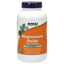 Now Foods MAGNESIUM OXIDE POWDER 8 OZ Made in USA FREE SHIPPING
