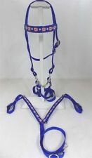 Miniature Horse / Sm Pony Usa Blue Bridle And Breastcollar - July 4Th Favorite