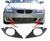 FOR BMW E60 E61 M-SPORT FRONT BUMPER FOG LIGHT COVER GRILL TRIM PAIR LEFT RIGHT