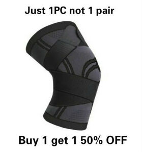 Knee Sleeve Compression Brace Support Pads Sport Joint Pain Arthritis with Wrap