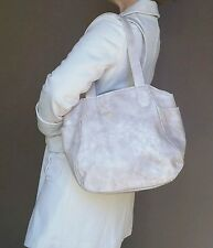 Distressed wash pink leather tote bag - shopper purse - handmade handbag lily