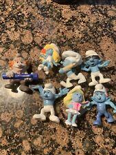 "7 Smurfs Movie lot figures Smurfette 3"" Great Condition"