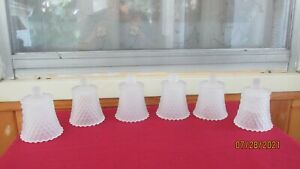 Lot of 6 Vintage Frosted Diamond Cut  Home Interior Votive Cups