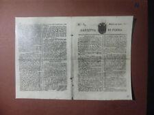 ARCHIVIO FOTO VAGHI - PARMA GAZZETTA 1821 - MORTE DI NAPOLEONE