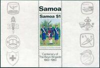 Samoa 1983 SG668 $1 Boys Brigade MS MNH
