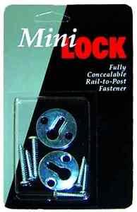 MiniLOCK™ Handrail Fastener 2 Pack      Mini Lock Rail to Post Fastener New