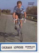 CYCLISME carte BONTEMPI FABRIZIO équipe LAMPRE 1991 format 12 x 16,5 cm