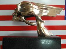 West Coast Choppers Style Flying Skull, Bronze, hood ornament , paper weight